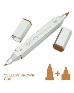 Illustrator by Spectrum Noir Single Pen - Yellow Brown