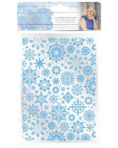 Sara Signature Winter Wonderland 5x7 Embossing Folder - Fluttering Snowflakes