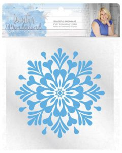 Sara Signature Winter Wonderland 6x6 Embossing Folder - Graceful Snowflake