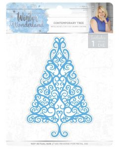 Sara Signature Winter Wonderland Metal Die - Contemporary Tree
