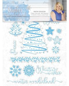 Sara Signature Winter Wonderland - Clear Acrylic Stamp - Snow Season