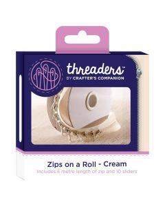 Zips on a Roll - Cream thumb