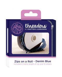 Zips on a Roll - Denim Blue thumb
