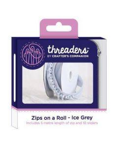 Threaders Zips on a Roll - Ice Grey